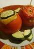 Tomates et courgette farcies au riz