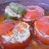Tomates farcies à la dinde