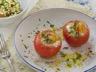 Tomates farcies aux oeufs et à la crème