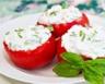Tomates farcies légères au fromage frais et à la menthe