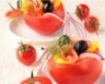 Tomates froides farcies au saumon couscous et chèvre frais
