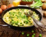 Tortilla aux pommes de terre petits pois et feta