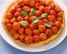 Tourte au fromage de chèvre et aux tomates-cerise