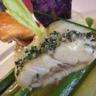 Turbot «André Moreau» glacé minute jeunes poireaux asperges vertes et jus de cuisson