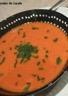 Velouté à la tomate chorizo croustillant