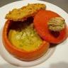 Velouté au potimarron et petits légumes