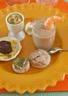 Velouté concombre et champignon radis noir au canard et champignons farcis