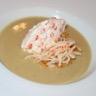 Velouté de lentilles corail et sa chantilly d'oeuf de saumon