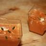 Velouté de poivron rouge et chèvre frais