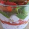 Verrine courgettes-poivrons