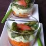 Verrine de carottes et d'asperges