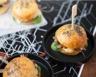 Verrine de mini-burgers au confit de canard crème de foie gras et figues