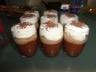 Verrine de mousse au chocolat compote de poires et chantilly