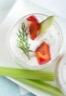 Verrine de poivrons rouges et d'anchois