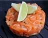 Verrine de tartare aux deux saumons