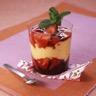 Verrine fruits rouges et crème brûlée