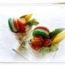 Verrine guacamole mangue avocat saumon macaron saumon St Moret aneth.......