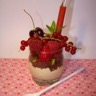 Verrine mascarpone citron vert brownie fruits rouges et sion coulis fraise vanille Bourbon