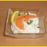 Verrines à la crème de saumon fumé