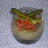 Verrines asperges et tartare de tomates