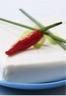 Verrines aux poivrons et au fromage frais aux herbes