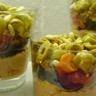 Verrines chèvre tomates séchées et olives 2 variétés