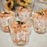 Verrines crevettes sauce cocktail