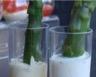 Verrines d'asperges à la crème mousseline