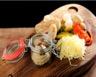Verrines de foie gras au confit d'oignons rouges