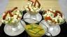 Verrines de homard en salade