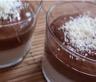 Verrines de panna cotta au sirop d'érable mousse au chocolat et râpé de chocolat blanc