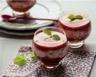 Verrines de tartare de fraises faisselles et mousse de fruits rouges