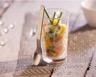 Verrines de tartare de saumon mangue et avocat