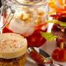 Verrines émulsion Foie Gras magret fraises tapas de Foie Gras tatins de Foie Gras aux fruits frais