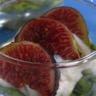 Verrines figues crème de noix & courgettes