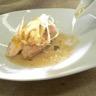 Volaille moutarde au curry navets acidulés et bouillon de poule au nori