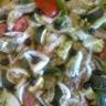 Wings au four et ses légumes provençaux