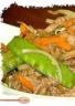 Wok de boeuf et petits légumes croquants
