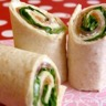 Wraps de saumon fumé Saint Moret et Salade verte