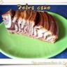 Zebra cake menthe chocolat