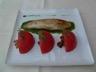 Aiguillette de Saint-Pierre rôti pistou de roquette à l'huile de noix girolles et tomates marinées