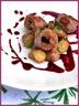 Aiguillettes de canard aux pruneaux sauce vigneronne et rattes du Touquet
