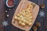 Apéritif de Noël à partager: Sapin en pâte à pizza fourrée de mozzarella