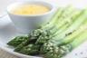 Asperges vertes et blanches sauce hollandaise