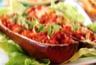 Aubergines farcies au boeuf à la tomate et à la mozzarella