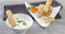 Beignets de salsifis sauce yaourt aux herbes