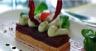 Biscuit noix fenouil aux poires pochées crémeux de roquefort