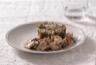 Blanquette de veau aux Champignons de Paris crème fraiche Trompettes de la mort Morilles et riz aux herbes fraîches
