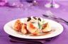 Bouchées de poulet nature accompagnées d'un risotto à la truffe sauce façon bisque
