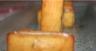 Bouchées pesto-parmesan garniture au chèvre et miel